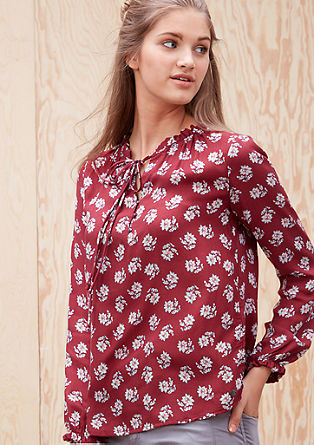 Ruffled blouse with a floral pattern from s.Oliver