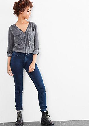 Sadi Superskinny: jeans hlače z visokim pasom