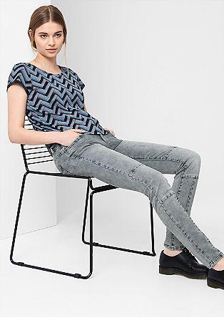 Sadie Super Skinny: Biker-Jeans