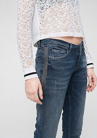 Sadie Super Skinny: jeans with studs from s.Oliver