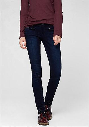 Sadie Super Skinny: Zipper-Jeans
