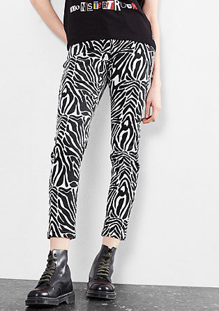 Sadie Superslim: Black&White-Jeans