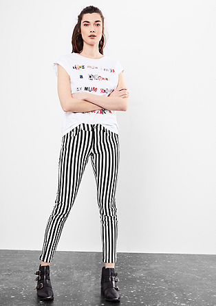 Sadie Superslim: jeans hlače Black&White