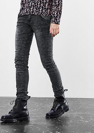 Sadie Superslim: Jeans hlače z učinkom acid washed