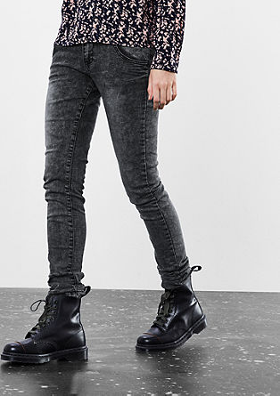 Sadie superslim: jeans met een acid wash