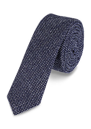 Salt-and-pepper silk tie from s.Oliver