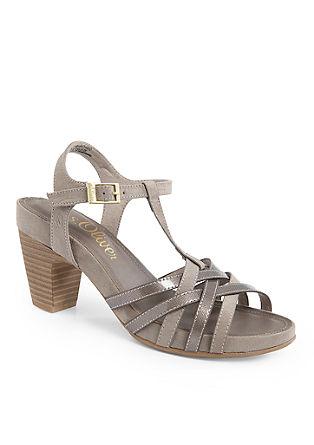 Sandaletten im Materialmix