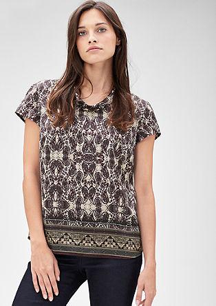 Satijnen blouse met paisley