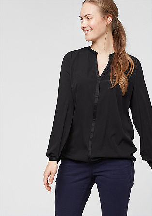 Satin blouse in a mix of materials from s.Oliver