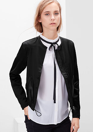Satin bomber jacket from s.Oliver