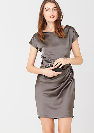 Satin dress with a draped effect from s.Oliver