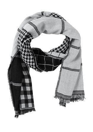 Scarf with a check pattern from s.Oliver