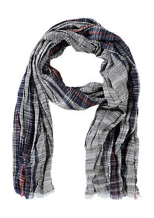 Scarf with a crinkle effect from s.Oliver