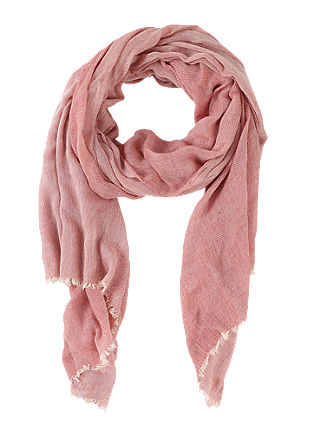 Scarf with a fine woven pattern from s.Oliver