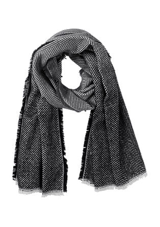 Scarf with a herringbone pattern from s.Oliver
