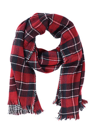 Scarf with a houndstooth check pattern from s.Oliver