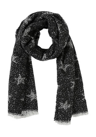 Scarf with a star pattern from s.Oliver