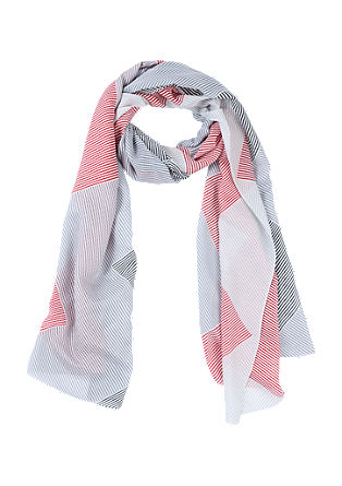 Scarf with a striped pattern from s.Oliver