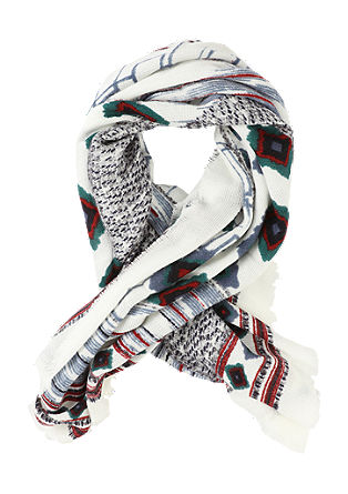 Scarf with an ethnic print from s.Oliver