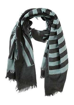 Scarf with block stripes from s.Oliver