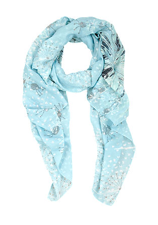 Scarf with metallic print from s.Oliver