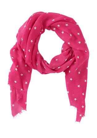Scarf with star print from s.Oliver