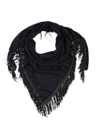 Scarf with suede-look fringing from s.Oliver
