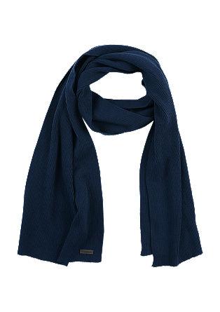 Schal aus Baumwollripp