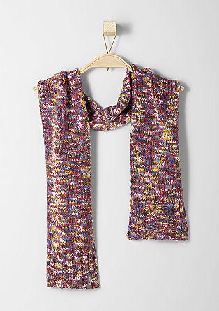 Schal aus Melange-Garn