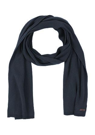 Schal aus Rippstrick