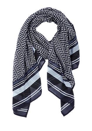 Schal mit Zickzack-Muster
