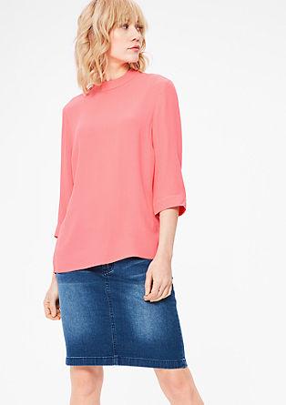 Schlichte Bluse aus Crêpe