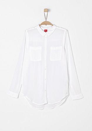 Schlichte Bluse aus Viskose
