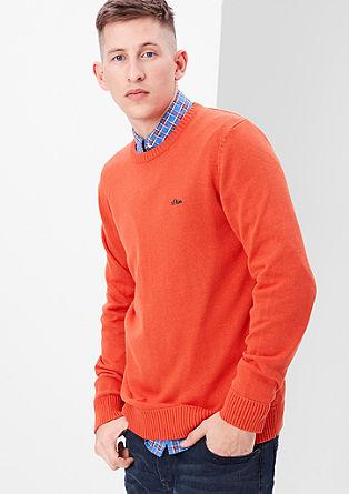 Schlichter Feinstrick-Pullover
