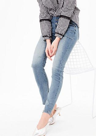 Schmale High Waist-Jeans