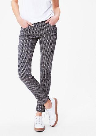 Schmale Hose aus Baumwollsatin