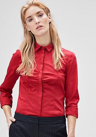 Schmale Stretch-Bluse