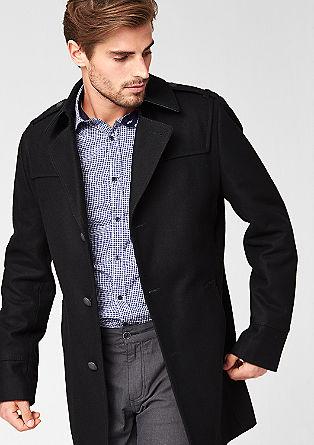 Schmaler Mantel aus Woll-Mix