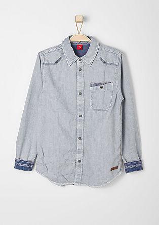 Schmales Hemd mit Brusttasche