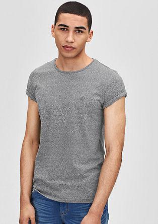 Schmales Melange-Shirt