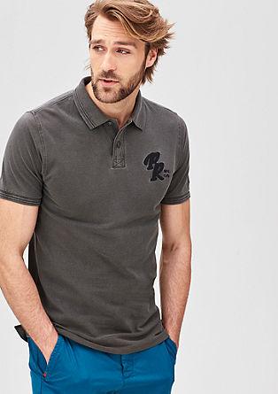 Schmales Piqué-Poloshirt