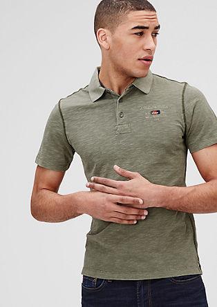 Schmales Poloshirt aus Jersey