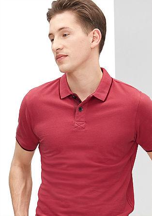 Schmales Poloshirt mit Rücken-Print