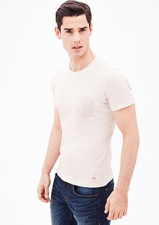 Schmales Shirt in Pigment Dye
