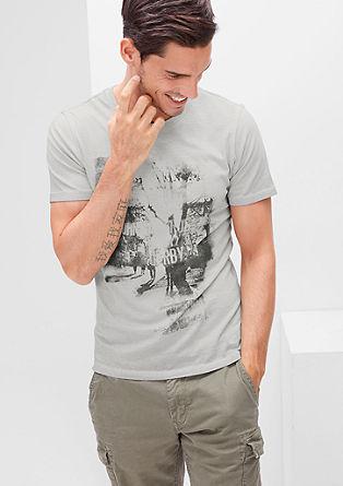 Schmales T-Shirt mit Foto-Print