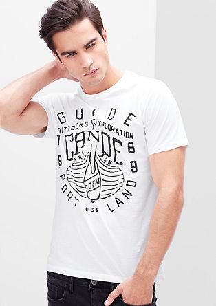 Schmales T-Shirt mit Frontprint