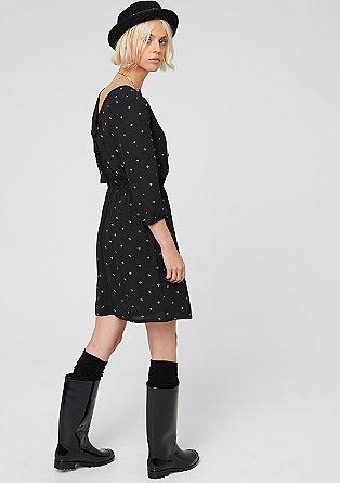 Schnür-Kleid mit Minimal-Muster