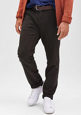 Scube Relaxed: črtaste hlače chino