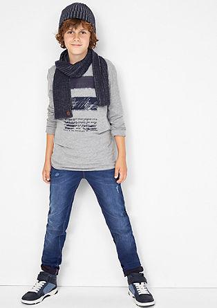 Seattle: jeans hlače z barvnimi poudarki