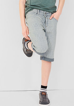Seattle: raztegljive jeans hlače z vzorcem